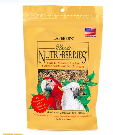 LAFEBER NUTRI-BERRIES/MACAW 12OZ.
