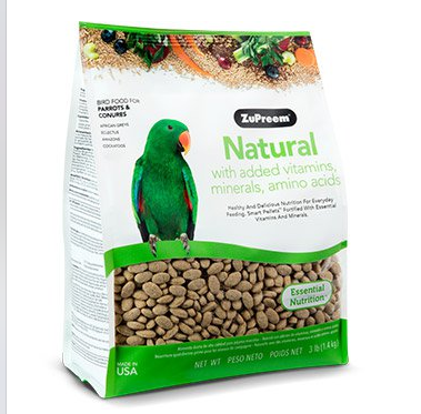 ZUPREEM NATURAL PARROT & CONURES 3#